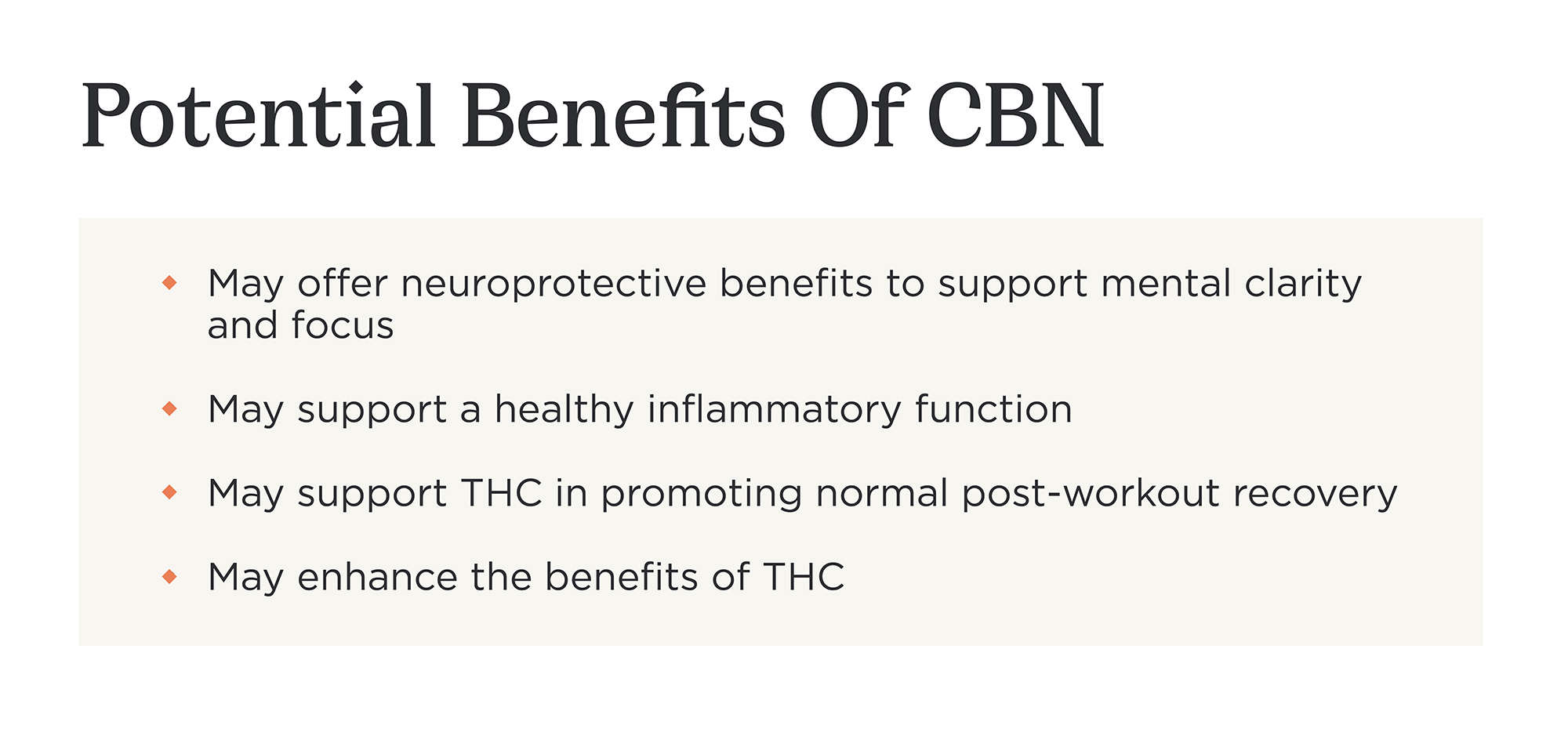 What Are The Potential Benefits Of CBN?