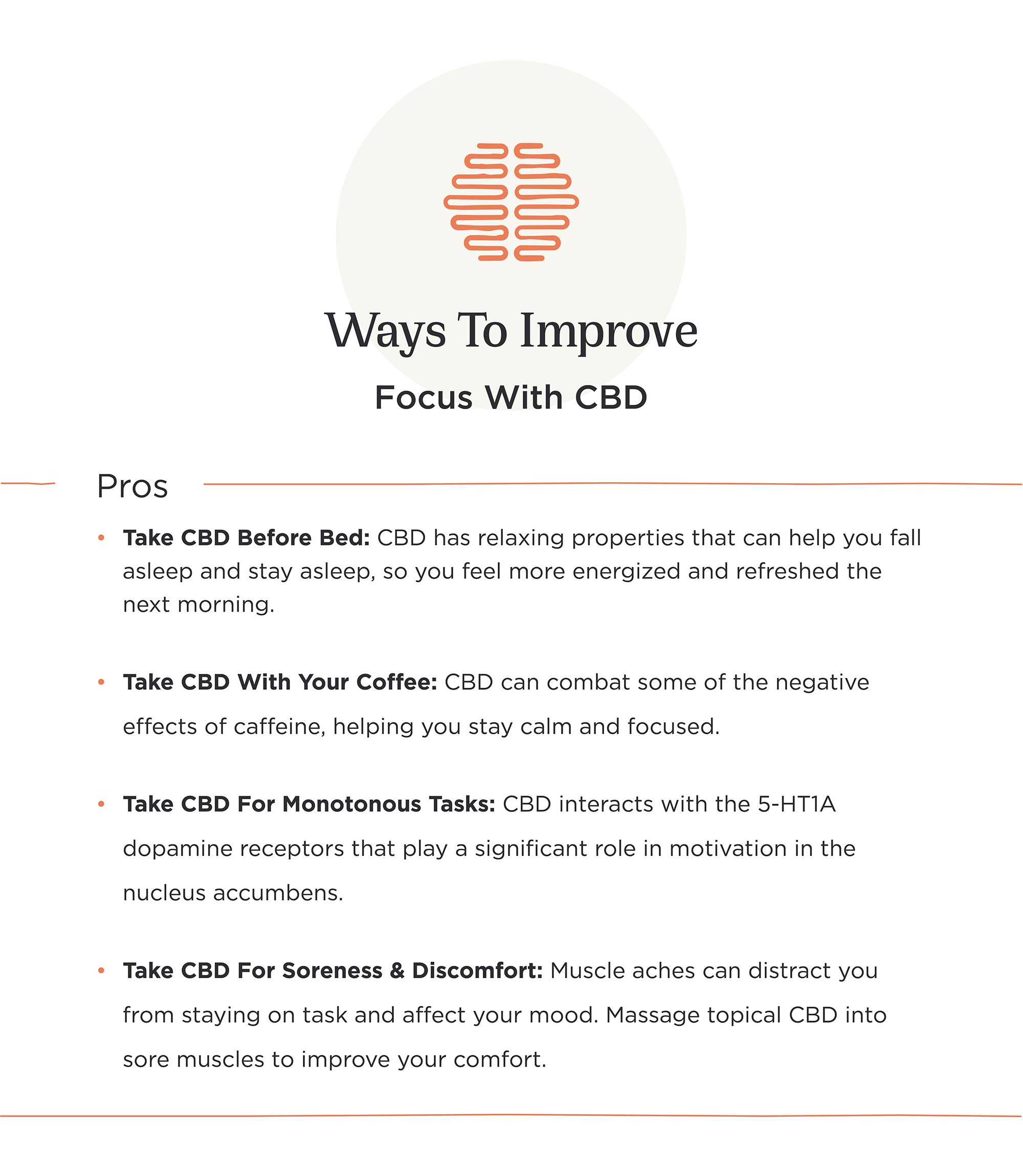 improving focus with cbd infographic